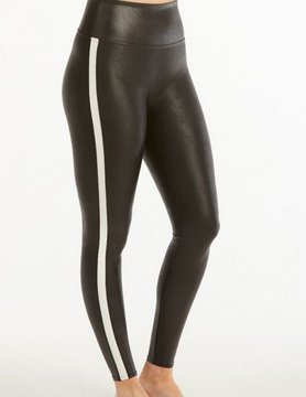 Spanx Spanx Faux Leather Stripe Legging Blk/Wht