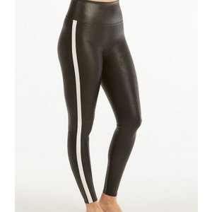 Spanx Spanx Faux Leather Stripe Legging Blk/Wht