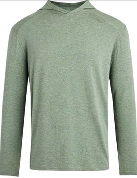 TASC Tasc Carrollton L/S Hood Kelp Heather