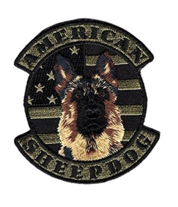 AMERICAN SHEEPDOG K9 FLAG PATCH (EMBROIDERED HOOK)