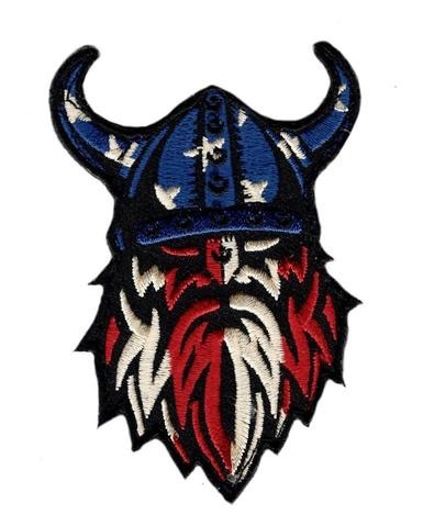 AMERICAN FLAG VIKING PATCH (EMBROIDERED HOOK)