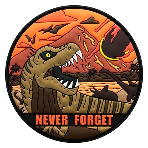 NEVER FORGET DINO PATCH (PVC)