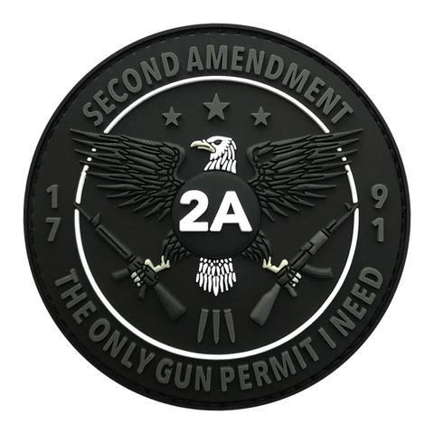 2ND AMENDMENT GUN PERMIT PATCH (PVC)