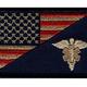 AMERICAN FLAG / EMT (EMBROIDERED HOOK)