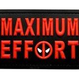 MAXIMUM EFFORT DEADPOOL PATCH (PVC)