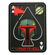 BOBA HELMET PAID TO KILL PATCH (PVC)