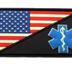 AMERICAN FLAG MEDIC PATCH (PVC) (GLOW)