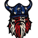 AMERICAN FLAG VIKING PATCH (EMB)