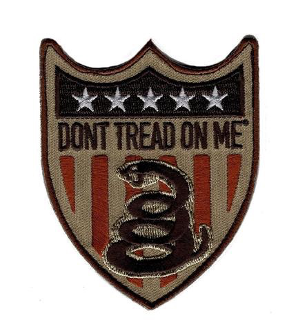 DON'T TREAD ON ME SHIELD PATCH (EMB)