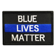POLICE BLUE LIVES MATTER THIN BLUE LINE PATCH (EMB)