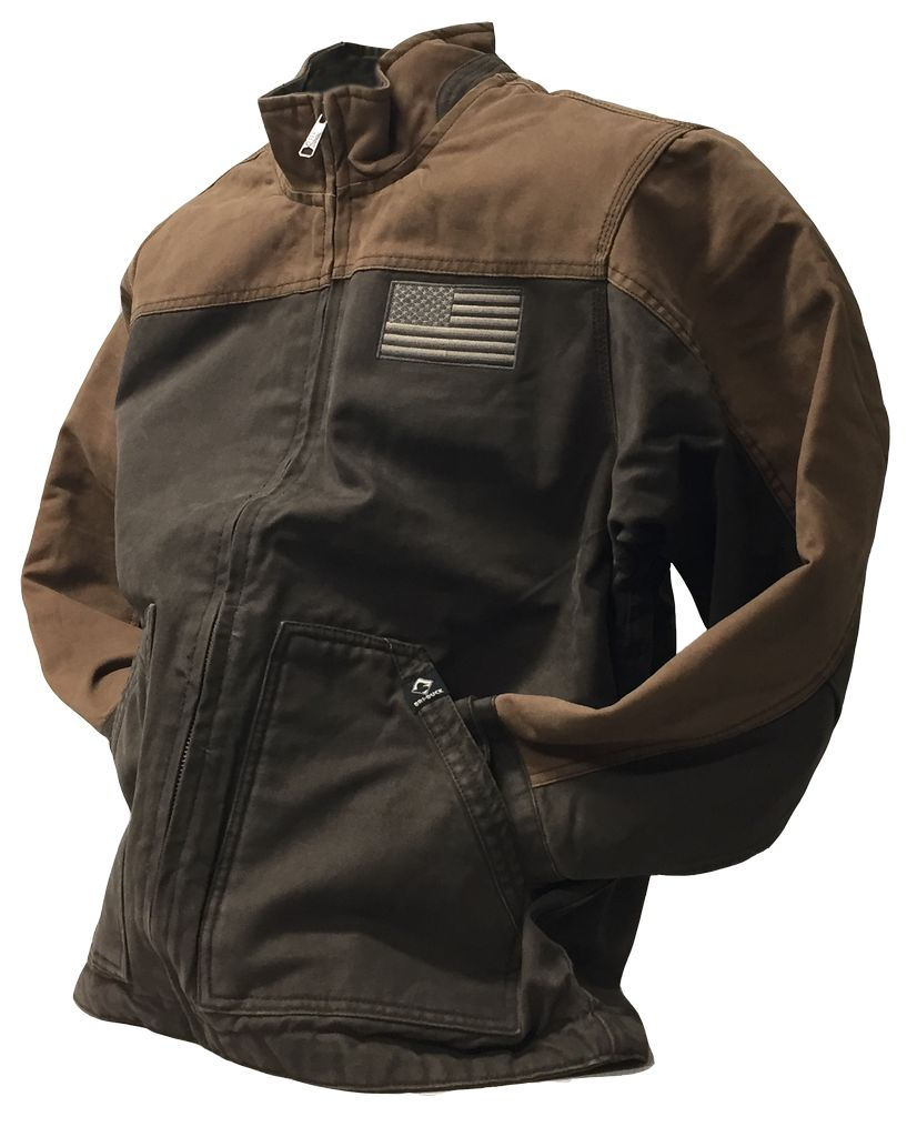 Dri Duck Canvas Jacket with Flag