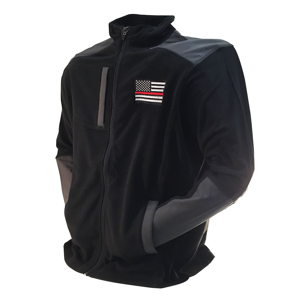 DRI DUCK MICROFLEECE EMBROIDERED FLAG JACKET