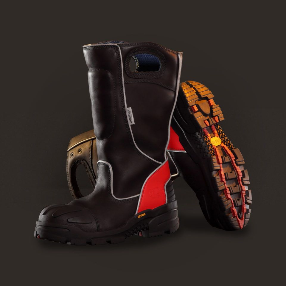 Fire Dex FDXL-100 Red Leather Boots
