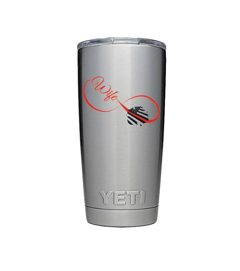 911RR SUBLIMATION Rambler Yeti Mug Infinite Wife