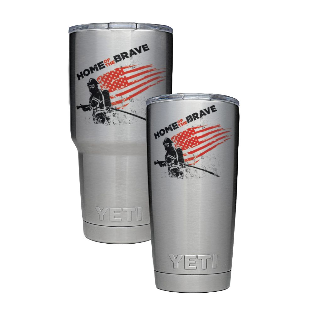 911RR SUBLIMATION Rambler Yeti Mug Home of The Brave