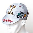MASH CRASH Cycling Cap Gray