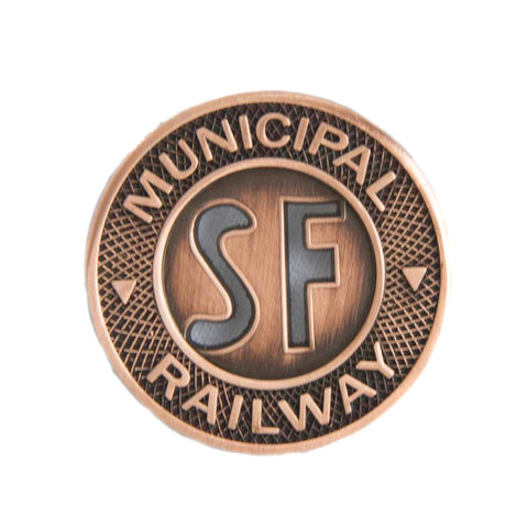 SF Municipal Railway Pin