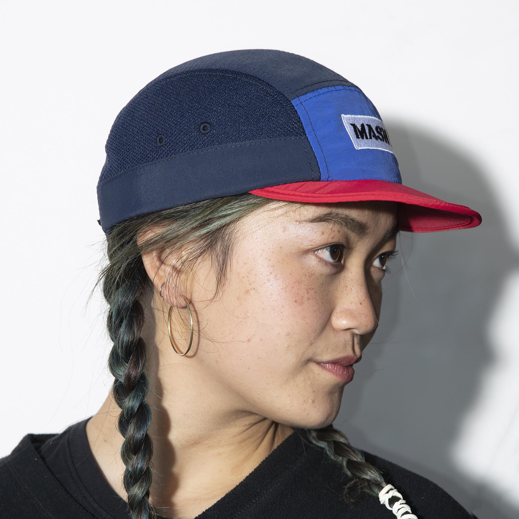 MASH FOLDABLE HAT Blue Red