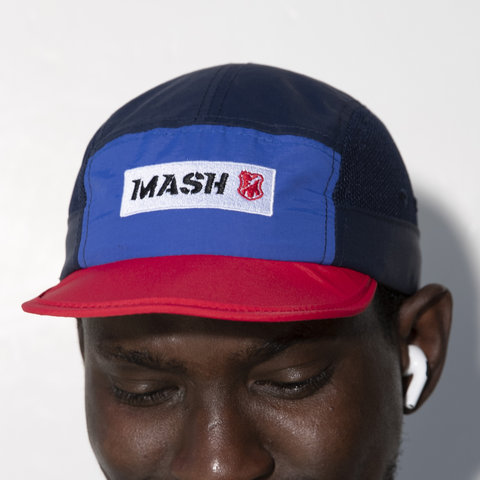 MASH FOLDABLE HAT Blue Red