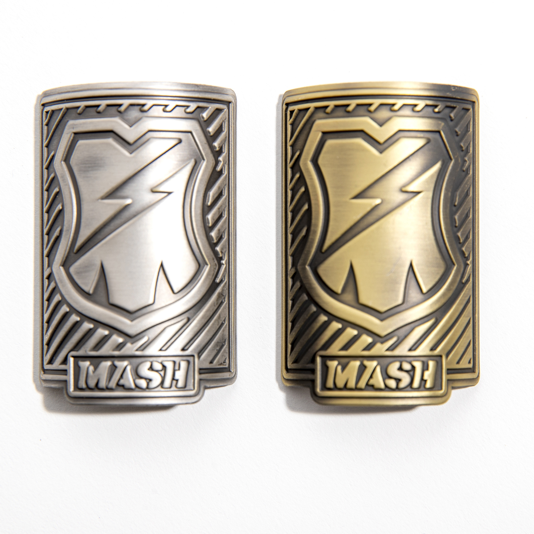 MASH 1 1/8 Head Badge Brass