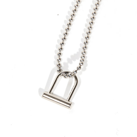 U-Lock Necklace Silver