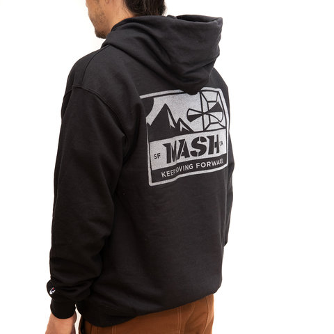 MASH Bolt Hoodie Champion Black with Reflective