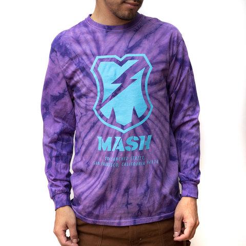 MASH Shop Long Sleeve Purple Spider Dyed