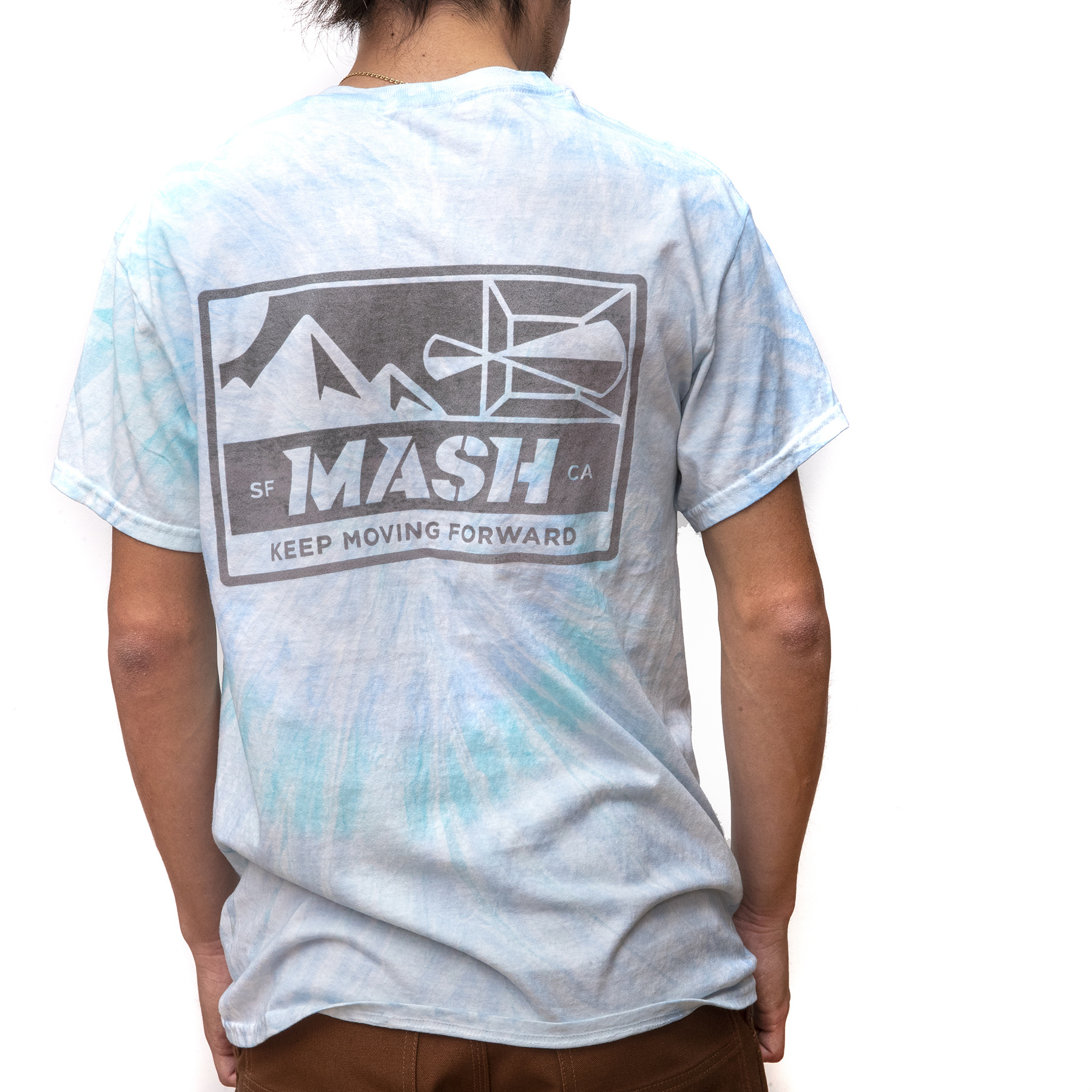 MASH Bolt T-Shirt Faded Tie Dye and Reflective