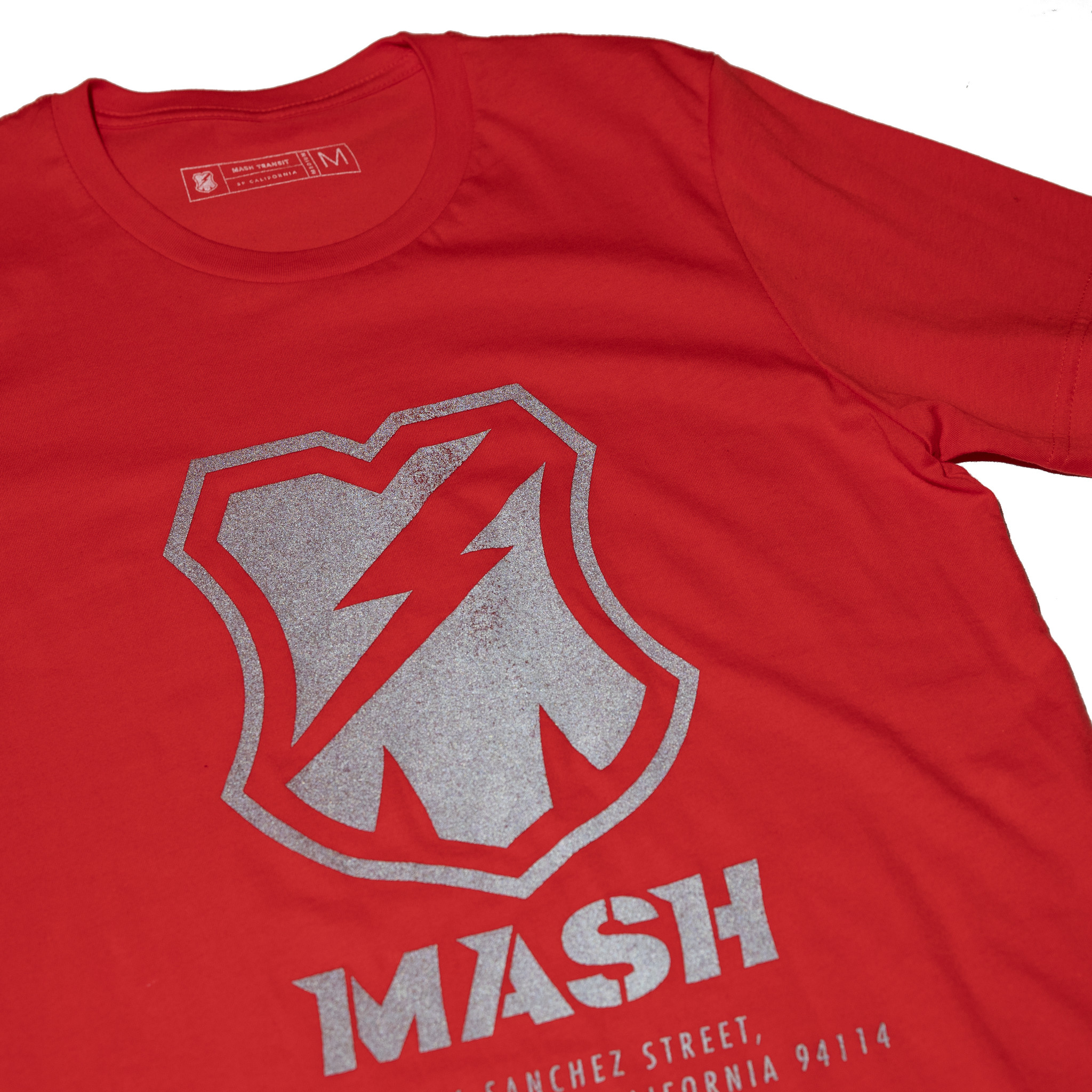 MASH Shop T-Shirt Bright Poppy with Reflective