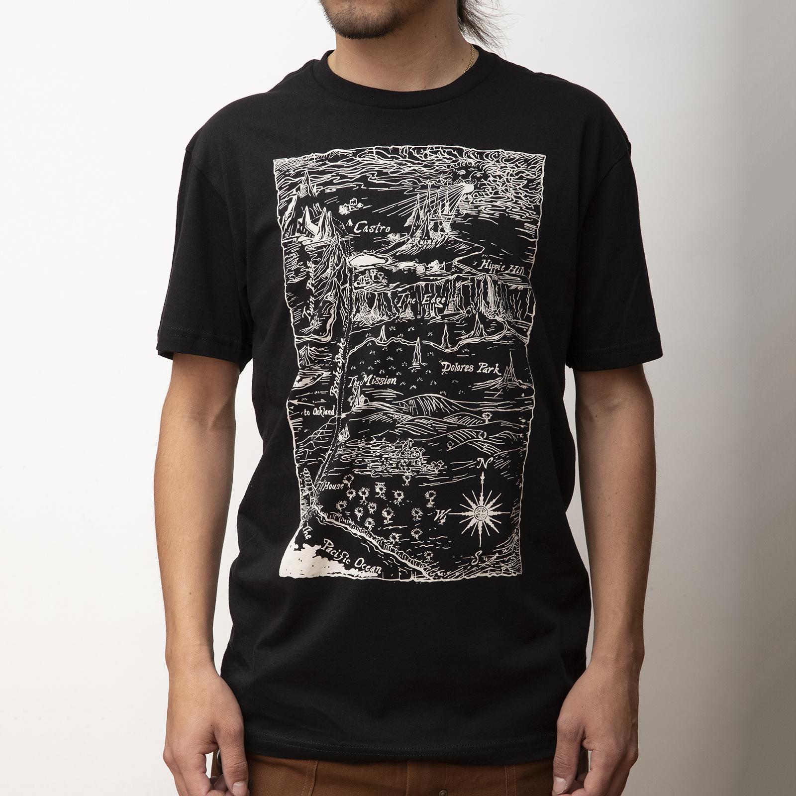 MASH Ruins T-Shirt Black with Bleach