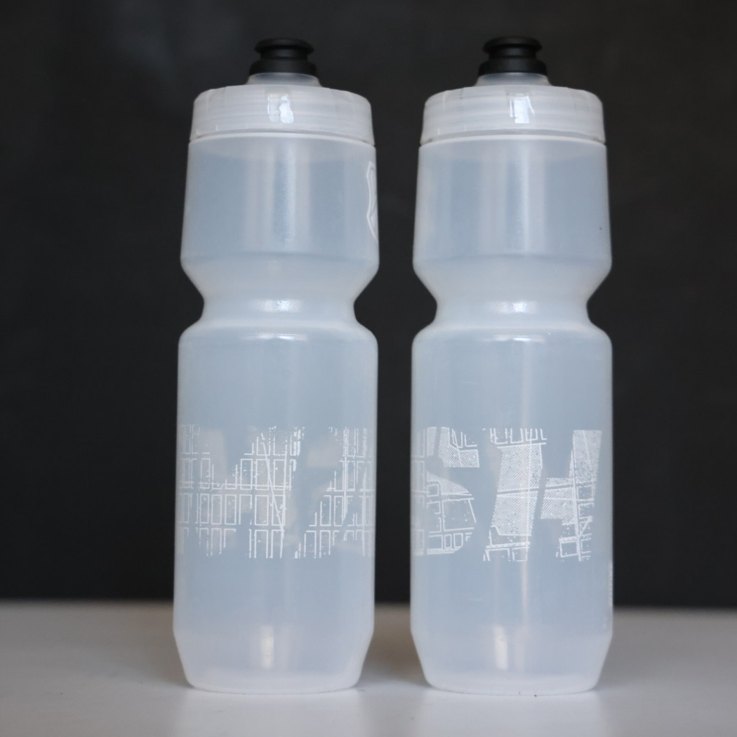 MASH Map 26oz Purist Bottle, Black or Clear