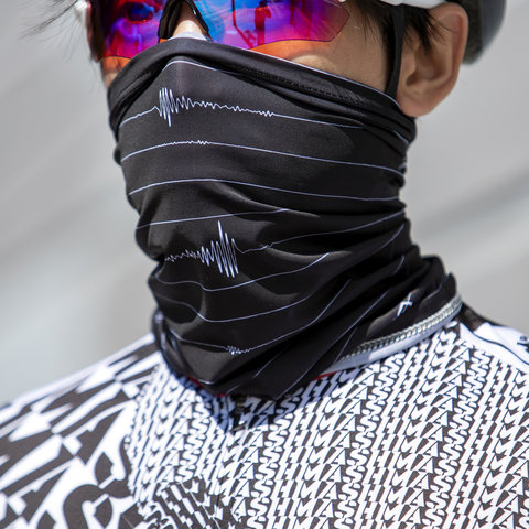 MASH Quake Stripe Neck Gaiter Black