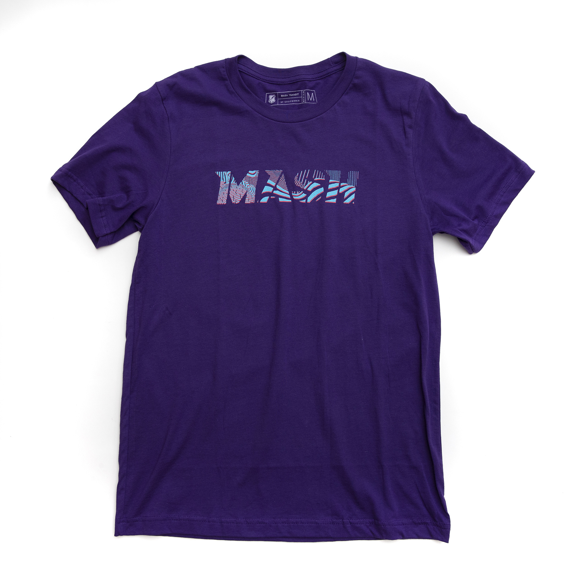 MASH Noise T-Shirt Purple
