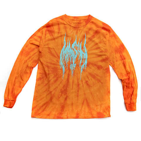 MASH Metal Long Sleeve Orange Spider Dye