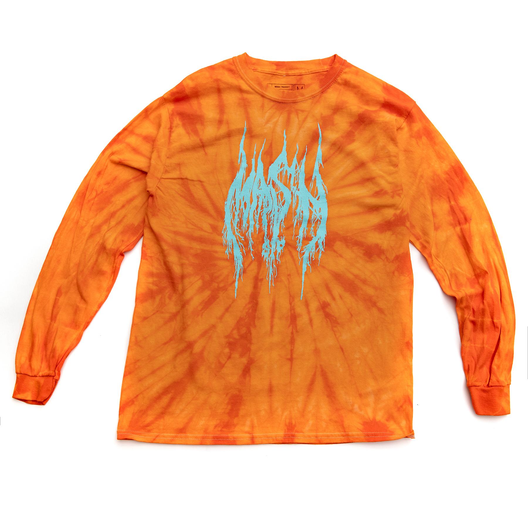 MASH Metal Long Sleeve Orange Spider Dye