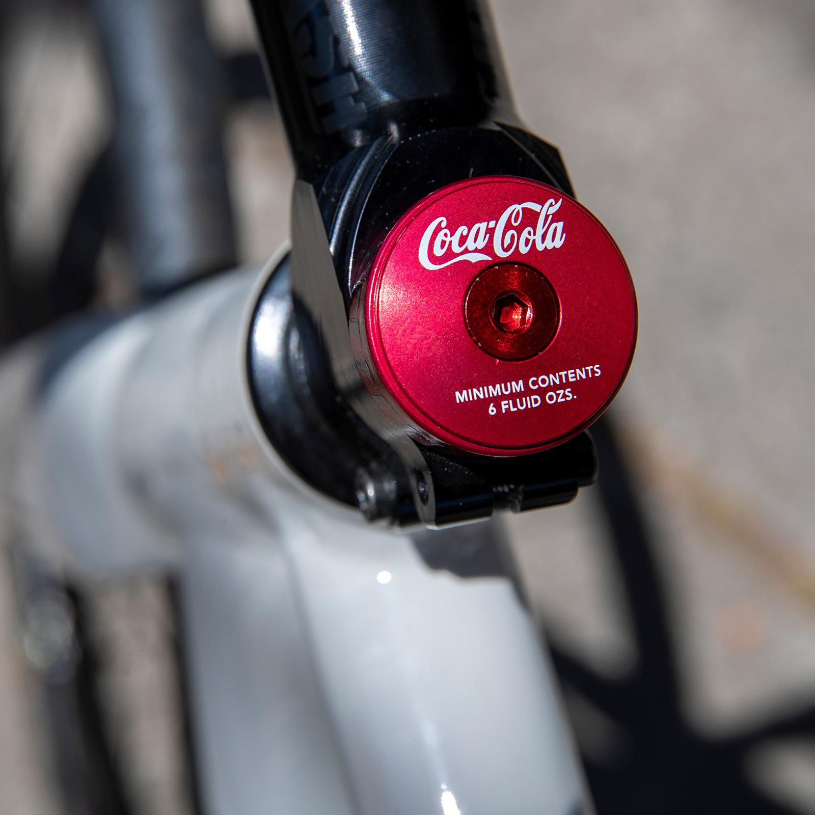 MASH Bonk Bottle Cap Top Cap + 10mm Spacer Red Anodized