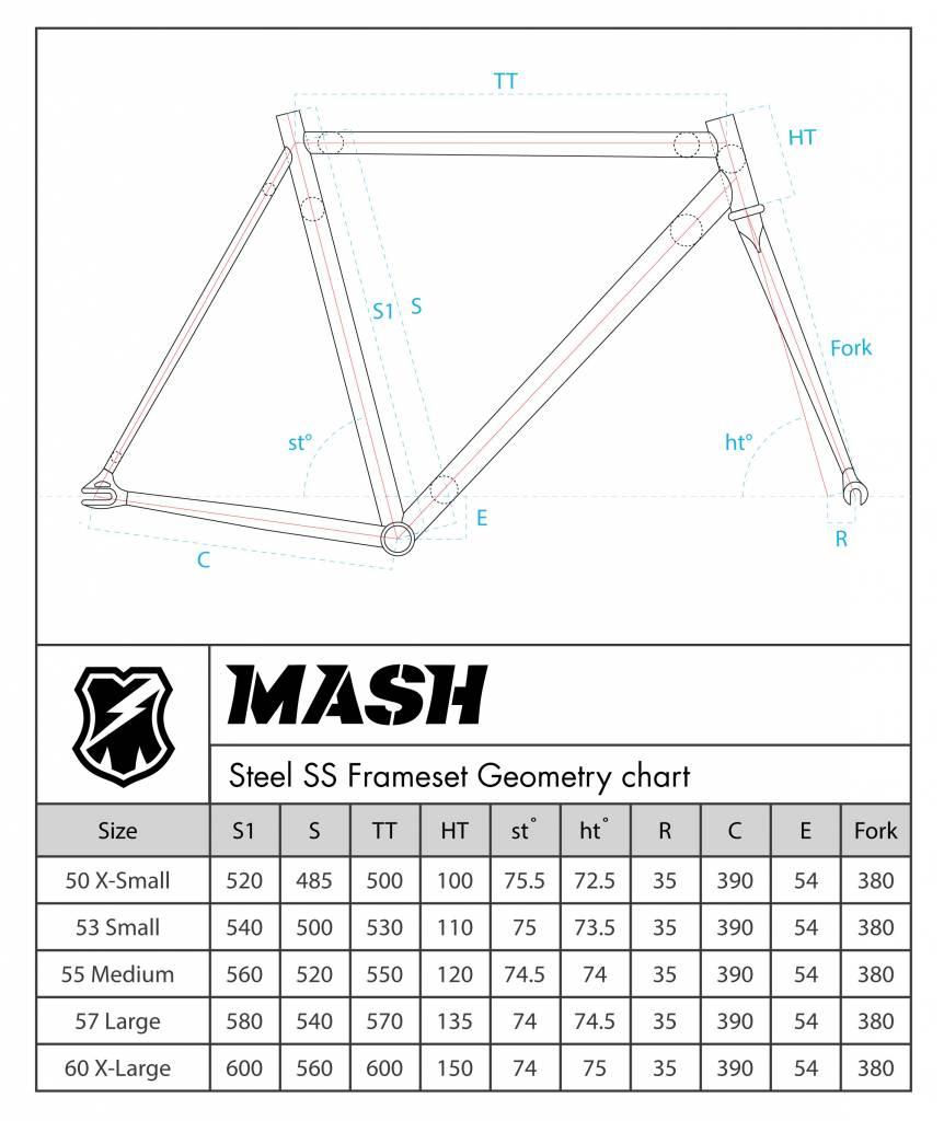 MASH Steel Frameset Black Chrome