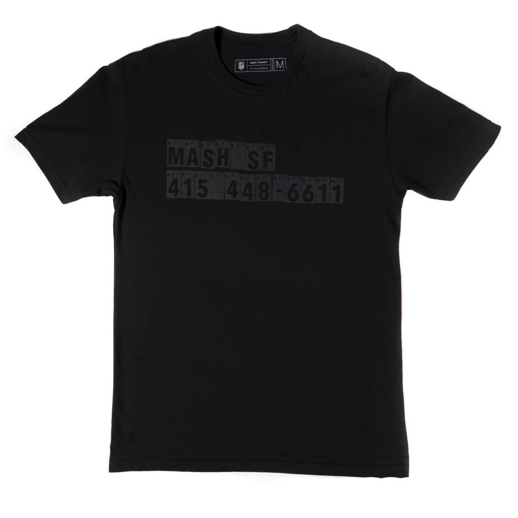 MASH 867-5309 T-Shirt Reflective Black