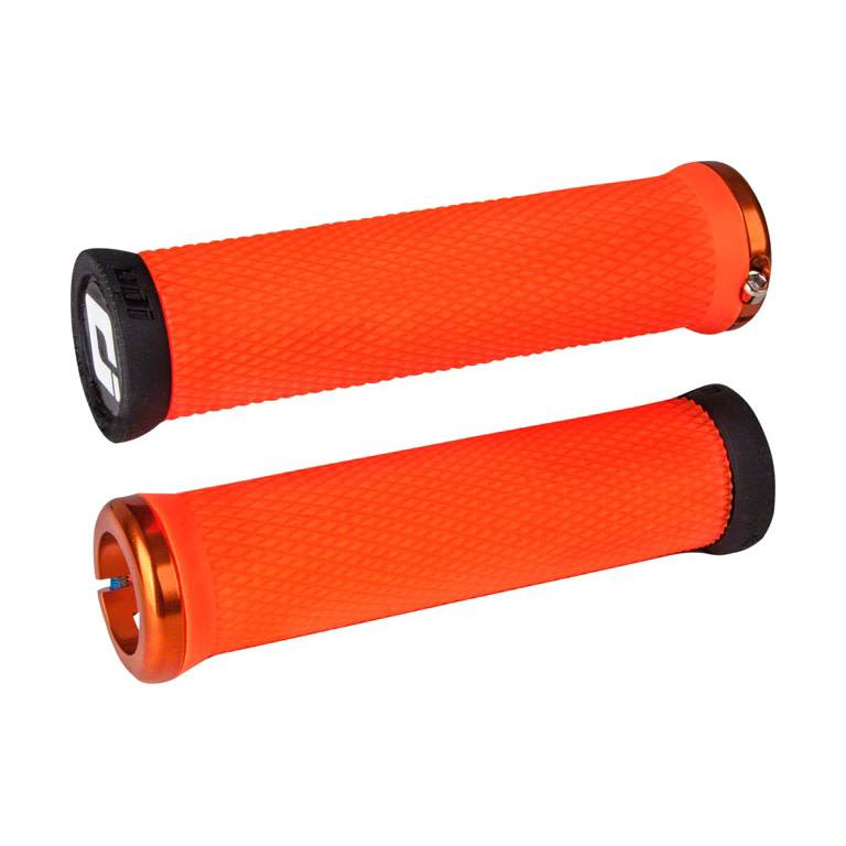 ODI Elite Motion Lock-On Grips Orange with Orange Clamps