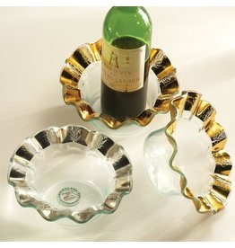 Annie Glass Annie Glass-Ruffle Wine Coaster