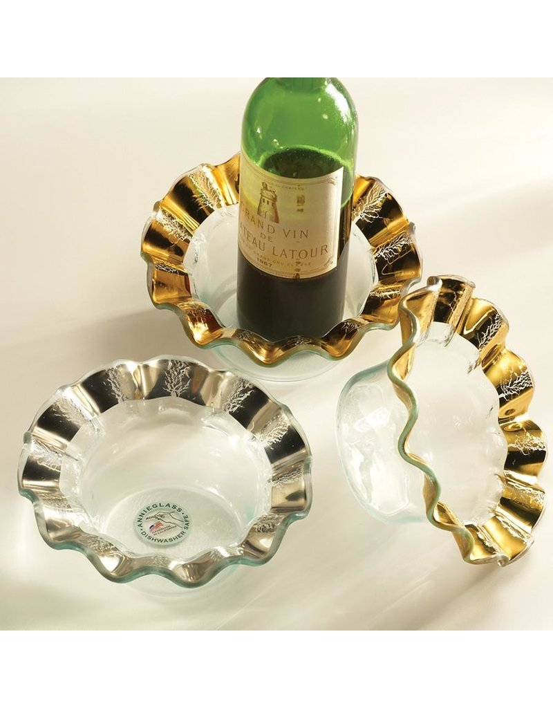Annie Glass Annie Glass-Ruffle Wine Coaster