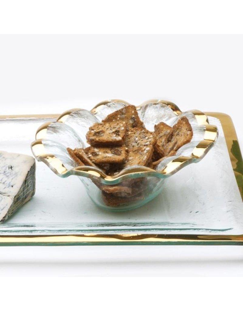 Annie Glass Annie Glass-Ruffle Oval Dip Bowl