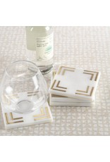 Zodax Marble Square Coasters-s/4