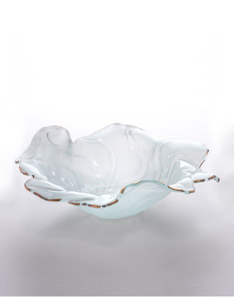 Annie Glass Poppy-11.5 inch bowl