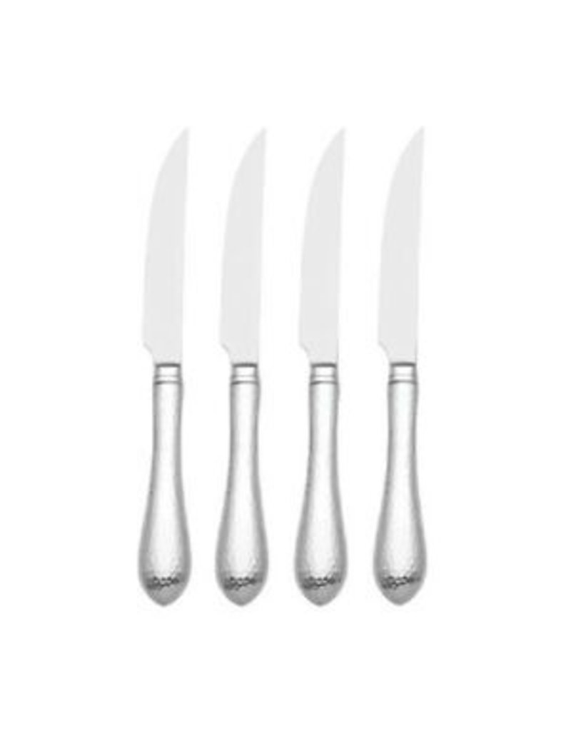 Reed and Barton HAMMERED ANTIQUE FW 4PC STEAK KNF SET