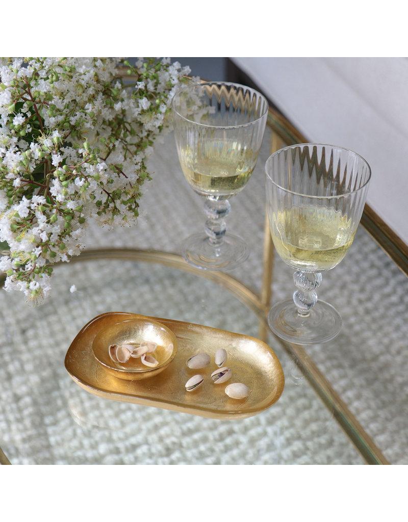Beatriz Ball New Orleans Glass Oval Platter w/mini bowl