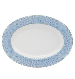 mottahedeh Cornflower Lace Blue Oval Platter