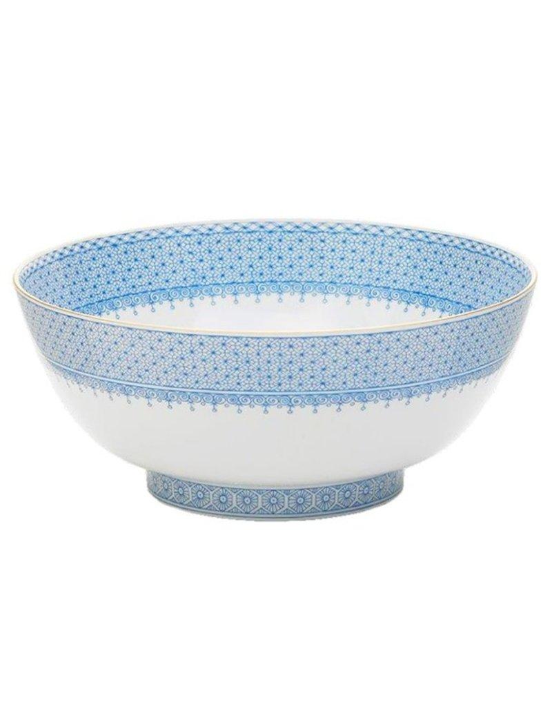 mottahedeh Cornflower Lace-Round Serving Bowl
