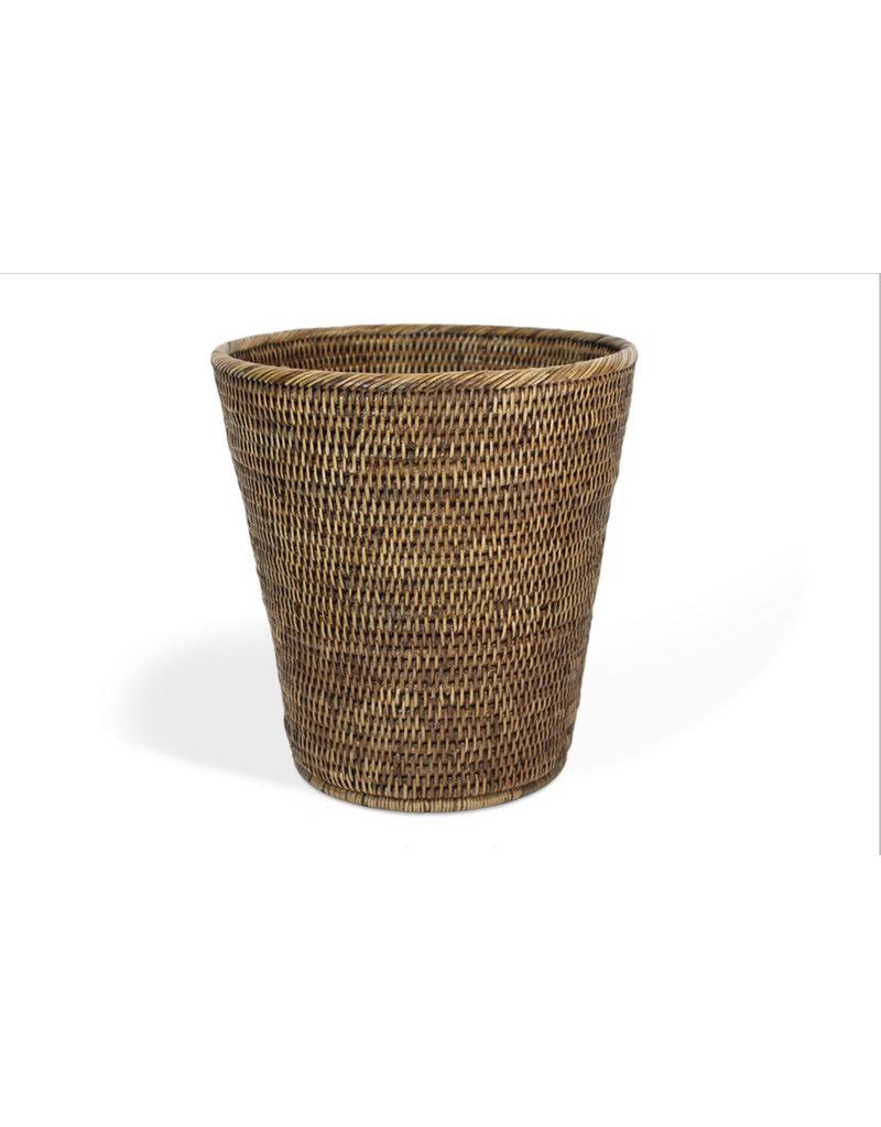 Matahari Round Waste Basket Small-Brown