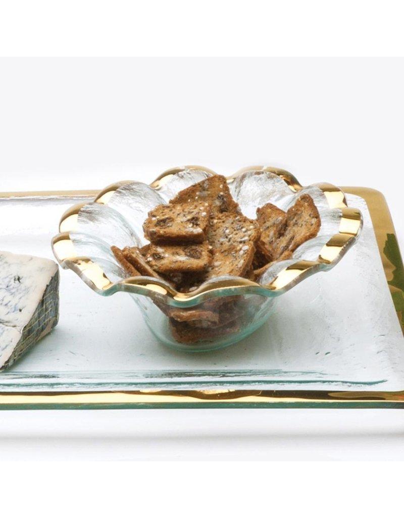 Annie Glass Annie Glass-Ruffle Sauce Bowl
